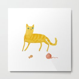 Nice Ginger Cat Metal Print