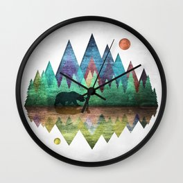 Forest Friends Trails Wall Clock