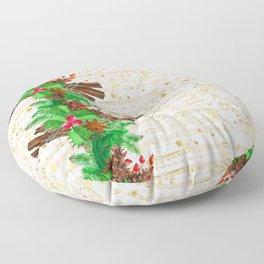 Christmas pine cones #3 Floor Pillow