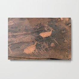 Desert Rock Art - Petroglyphs - II Metal Print