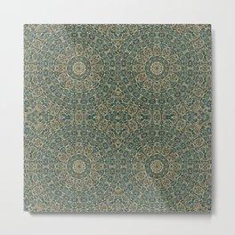 Moroccan Style Pattern Mandala Metal Print