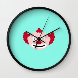 Red-haired clown T-Shirt for all Ages D4u9y Wall Clock