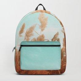 Orange Wheat Spikes Backpack