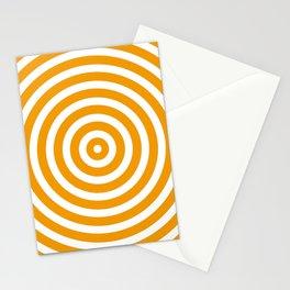 Circles (Orange & White Pattern) Stationery Cards