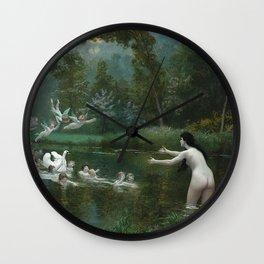 LEDA AND THE SWAN - JEAN-LEON GEROME Wall Clock