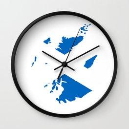 Dear Scotland Gift Scottish Pride Love Heart Wall Clock