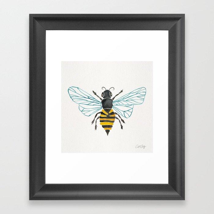 Honey Bee Gerahmter Kunstdruck