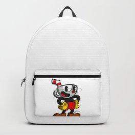 Cup Head Digital Drawing, Cartoon Art, Games Art, Cup Head Print Backpack