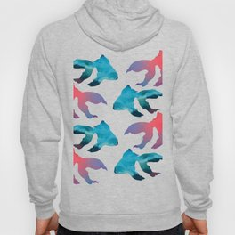 Pattern Oil Painting Abstract Tropical Fish Hoody