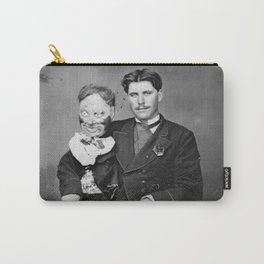 Creepy Ventriloquist Carry-All Pouch