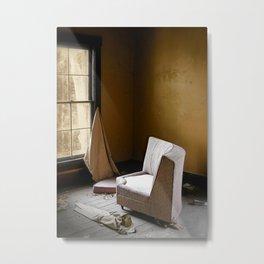 Princess Chair - Empty Room Abandoned House Metal Print