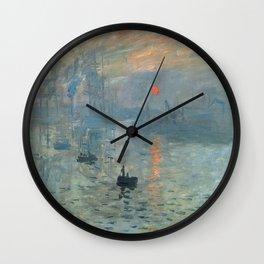 Claude Monet – Impression soleil levant – impression sunrise Wall Clock