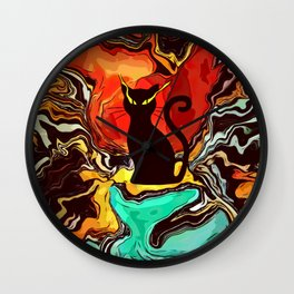 Lucid Dream Cat Wall Clock