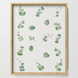 Eucalyptus Pattern Watercolor  Serving Tray