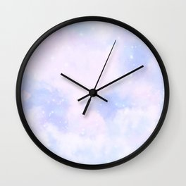 Pastel Cloulds Sky Seamless Nebula 223 Wall Clock