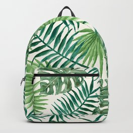 Green Leafy Design Backpack