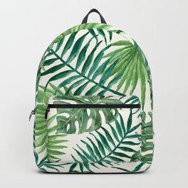 Green Leafy Design Backpack