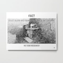 Jesus's Blood Metal Print