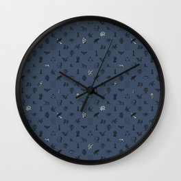 House of the Wise - Pattern II Wall Clock
