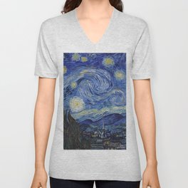 The Starry Night by Vincent van Gogh Unisex V-Neck