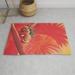 1925 Josephine Baker Est Aux Folies Bergere French Cabaret Vintage Poster Rug