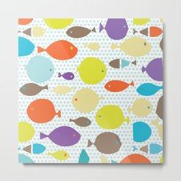 Fish dècor multicolors Metal Print