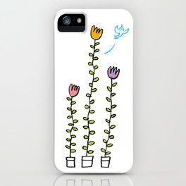 Bird and plant iPhone Case