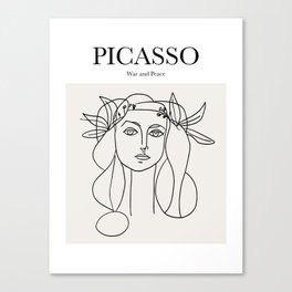 Picasso - War and Peace Canvas Print