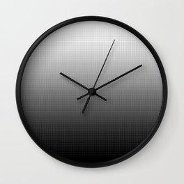 Halftone Gradient Black to White Wall Clock