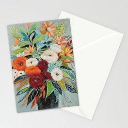 Black vase Stationery Cards