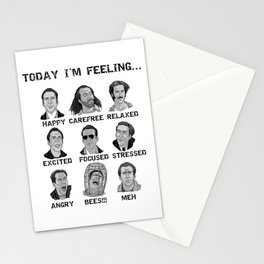 Nicholas Cage - Today I'm Feeling Stationery Cards