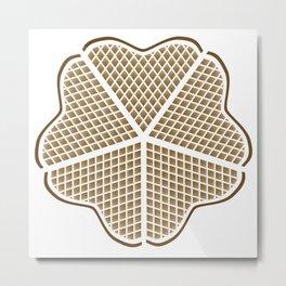 Norwegian Waffle Metal Print