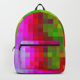 Digital Patchwork: Fuchsia Backpack