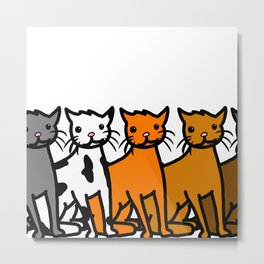 Cattern Pattern   Veronica Nagorny Metal Print