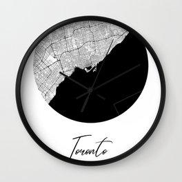 Toronto Area City Map, Toronto Circle City Maps Print, Toronto Black Water City Maps Wall Clock