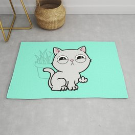 Kitty Knows Sign Language Rug