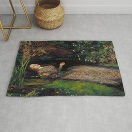 John Everett Millais Ophelia Painting Rug
