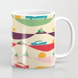 50s Retro Road Trip Beige #midcenturymodern Coffee Mug