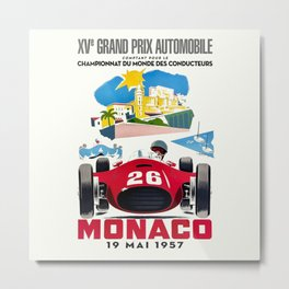 Classic Grand Prix Poster Metal Print