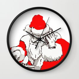 Merry Christmas DJ Santa Nonstop Remix Wall Clock