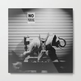 No Parking on the Elephant Metal Print