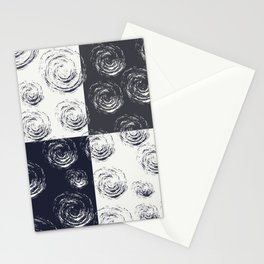 Circular Strokes Patched Pattern I Stationery Cards