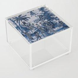 17th Century Delftware Chinoiserie Acrylic Box