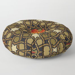 Flower of Fire Pussy Pattern Floor Pillow