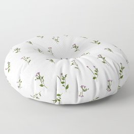 PRESSED FLOWERS - Chickweed Willowherb - Open Floor Pillow