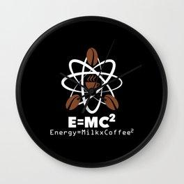 Coffee Energy Formula Wall Clock