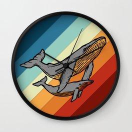 Retro Orcas Wall Clock