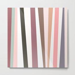 Tilted Stripes 02 Metal Print
