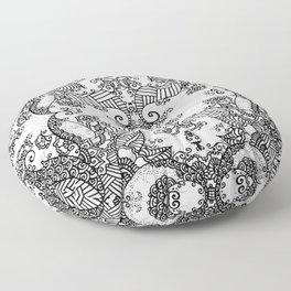 Ornament - Tree of Life - Rebirth - Mehndi Love - White #3 Floor Pillow
