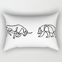Bull vs Bear Rectangular Pillow
